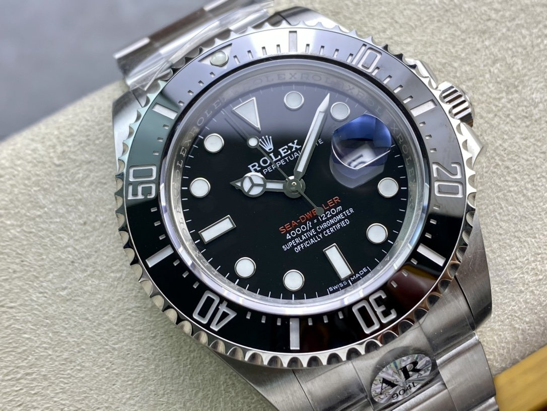 AR廠勞力士超級904L SEA-DWELLER 126600單紅海使鬼王2824機芯43MM複刻手錶