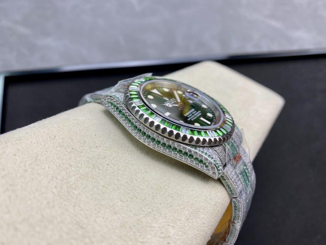 高仿勞力士904鋼水鬼奢華密滿鑽特別版40MM複刻手錶
