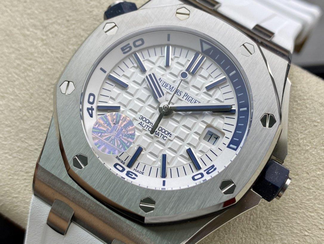JF精品高仿愛彼AP皇家橡樹15710系列白陶瓷搭載複刻原版3120機芯複刻手錶