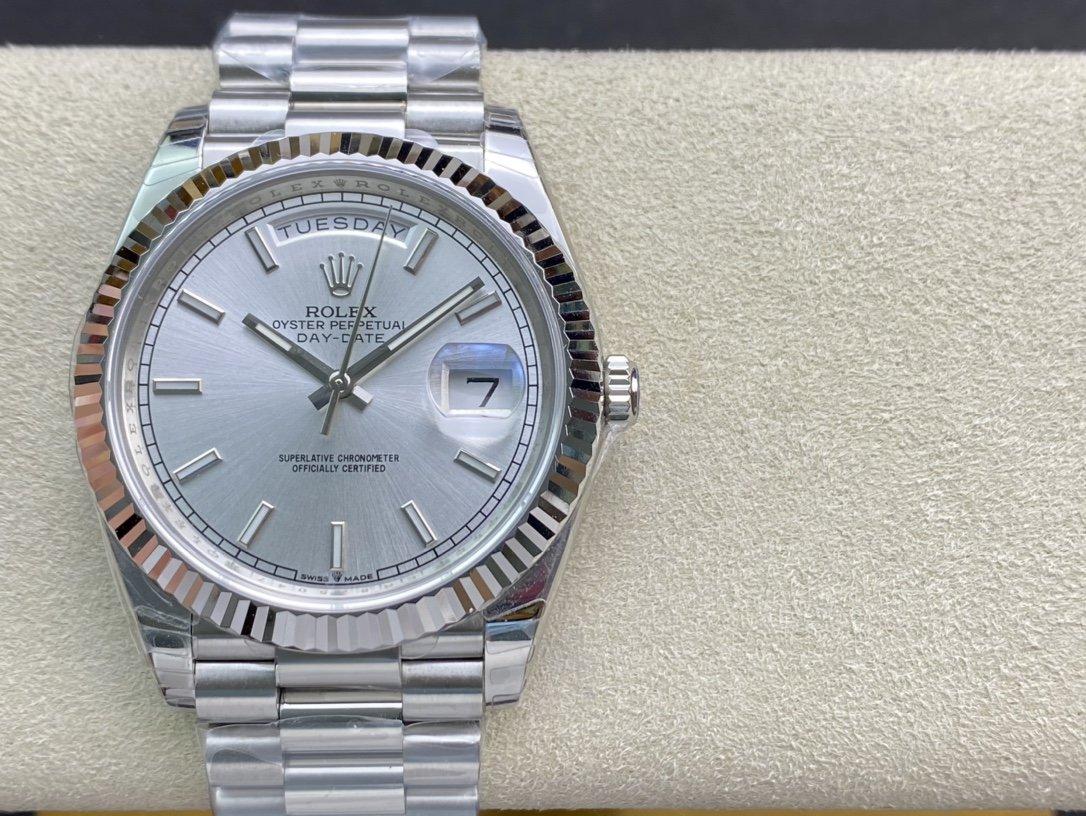 EW Factory最新力作V2升級版高仿勞力士Rolex星期日志型3255機芯40mm複刻手錶