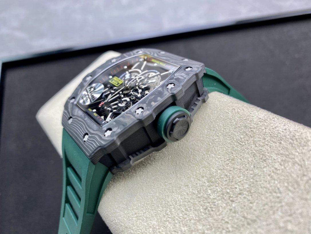 """KV廠高仿理查德米勒RM35最強進口原紋碳纖維""""V3""""升級版複刻手錶"""