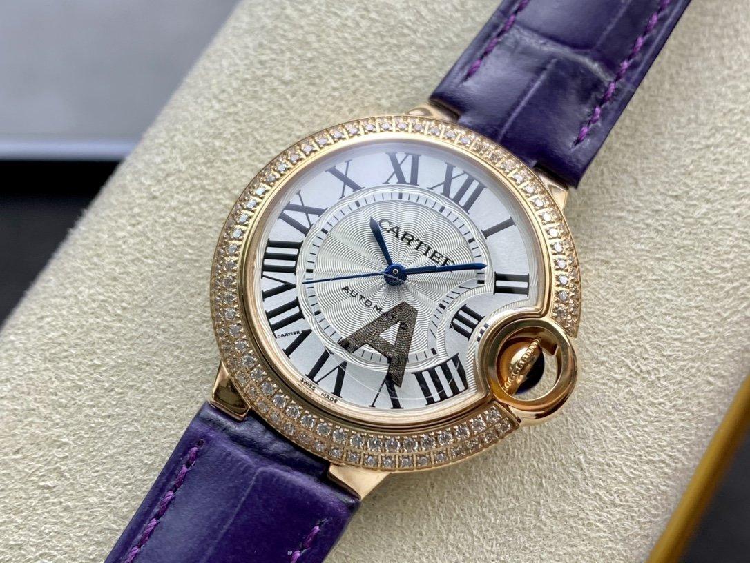 V6-Factory完美複刻高仿卡地亞藍氣球機械機芯33MM複刻手錶