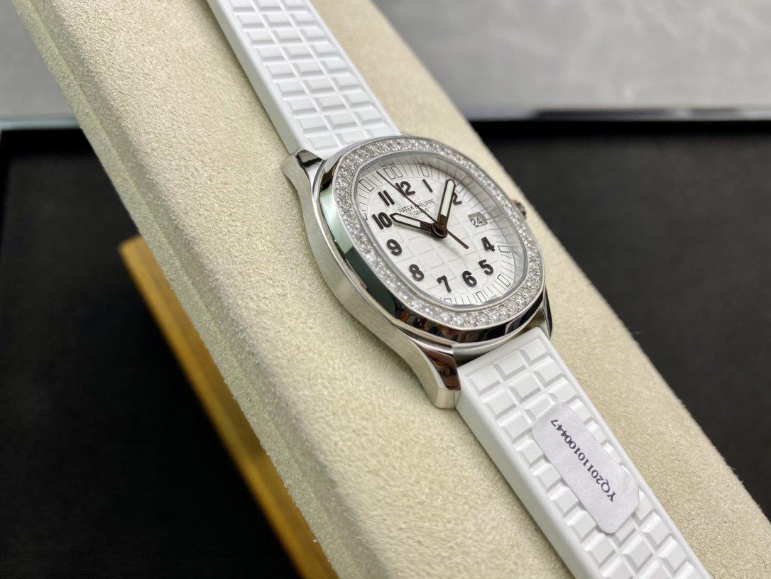 挺貴真鑽款高仿百達翡麗5067A手雷瑞士石英機芯女表複刻手錶