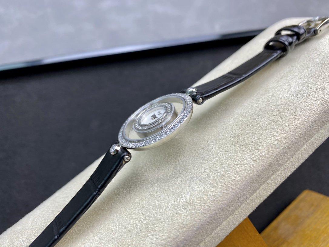 高仿蕭邦-Chopard透明滾珠快樂鑽HAPPY DIAMONDS系列複刻手錶