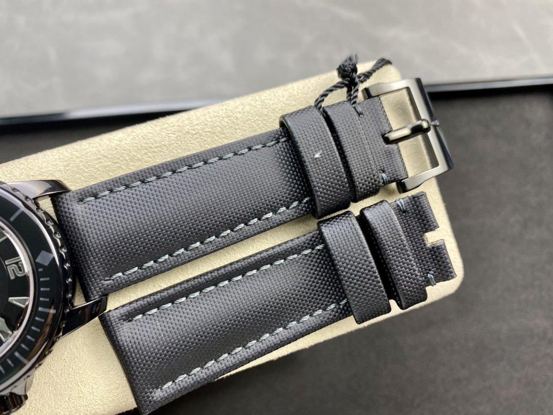 ZF 素黑沉穩高仿寶珀五十噚50尋黑武士型號 5015-11C30-52自動機械複刻腕表