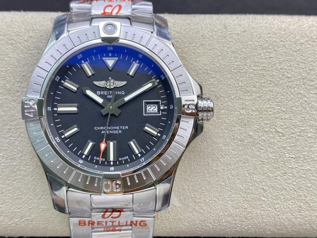 GF 新品高仿百年靈復仇者自動機械腕表Avenger Automatic 43MM複刻手錶