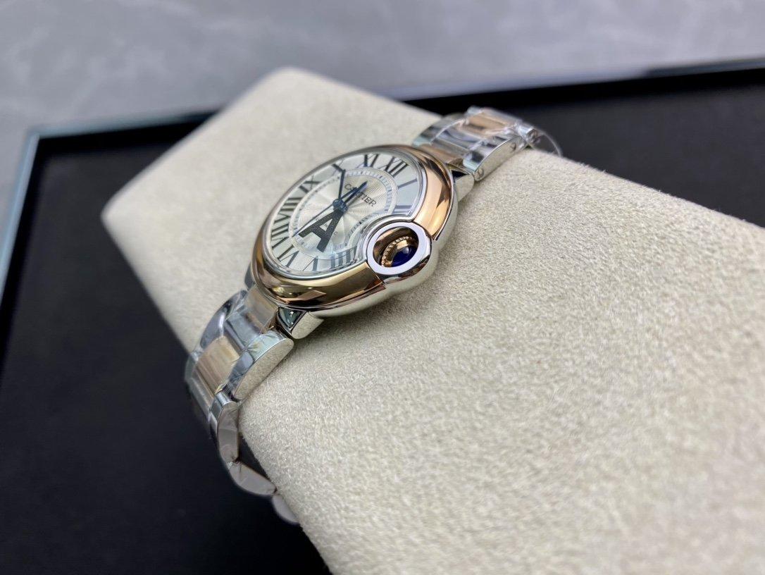 V6 -Factory一表一碼一卡完美複刻 V7版卡地亞藍氣球33MM複刻手錶
