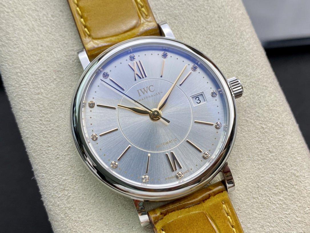 V7廠高仿萬國柏濤菲諾37mm女表複刻手錶