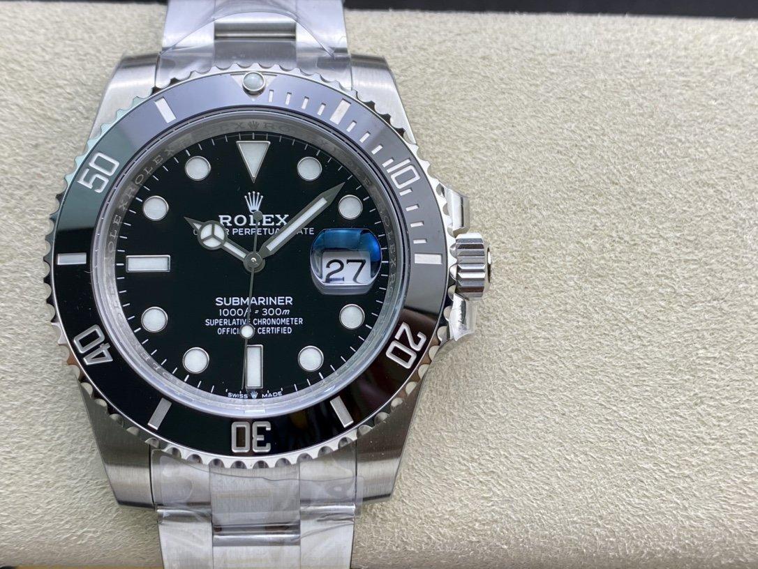 V6廠2020新款高仿勞力士新款盤面黑水鬼41mm複刻手錶