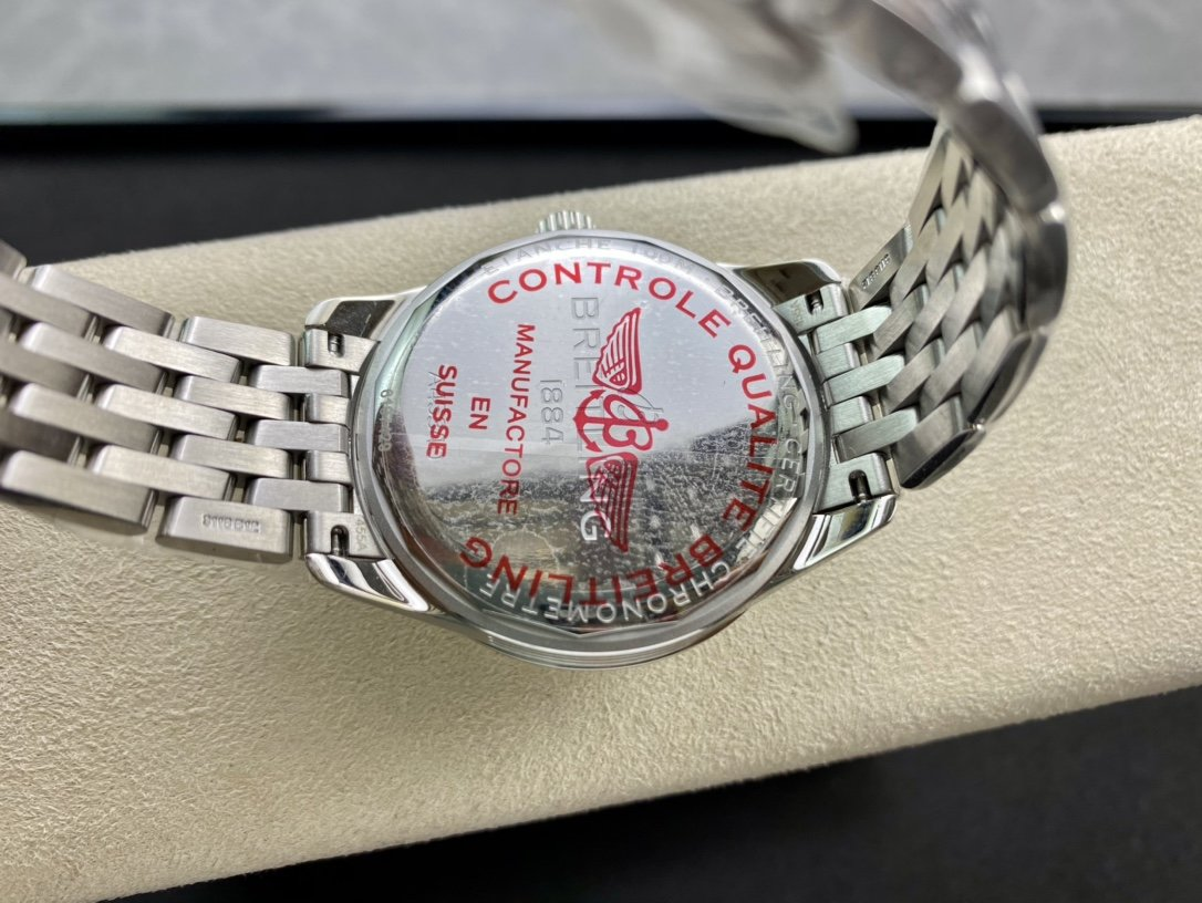 百年靈優雅的璞雅自動機械星期日曆複刻腕表