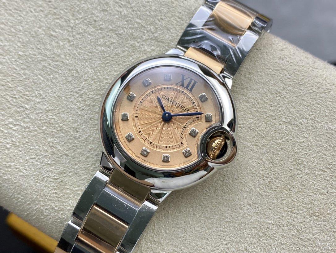 V6廠最新版V7版一表一卡一編碼卡地亞藍氣球小號28MM複刻手錶