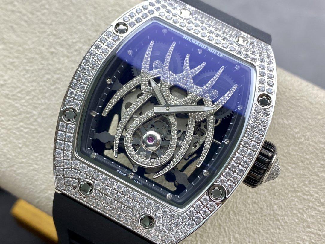 理查德米勒 Richard Mille 蜘蛛 RM19-01搭載原裝進口機械鑲滿鑽複刻手錶