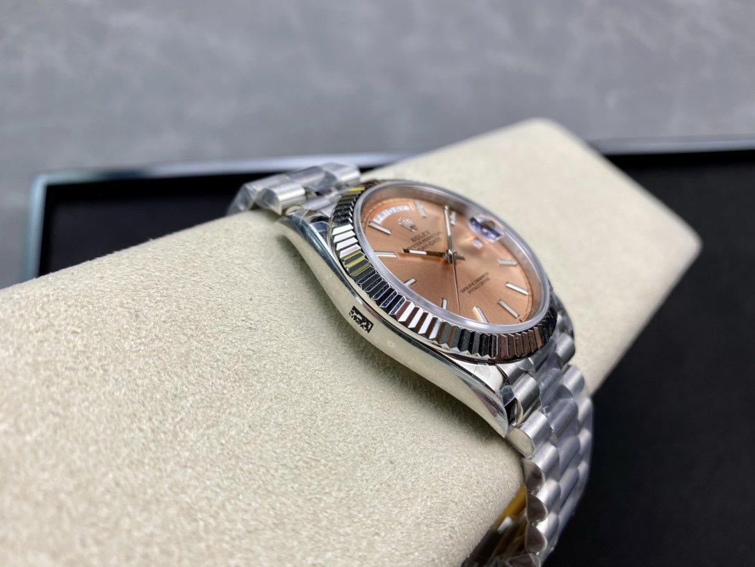 稀缺款BP高仿勞力士香檳色星期日志系列2836機芯40mm複刻手錶