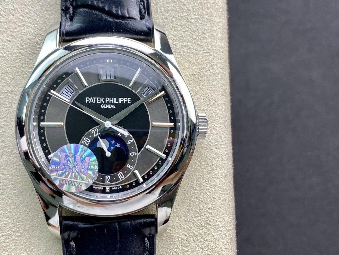 KM廠高仿百達翡麗複雜功能計時5205G複刻手錶