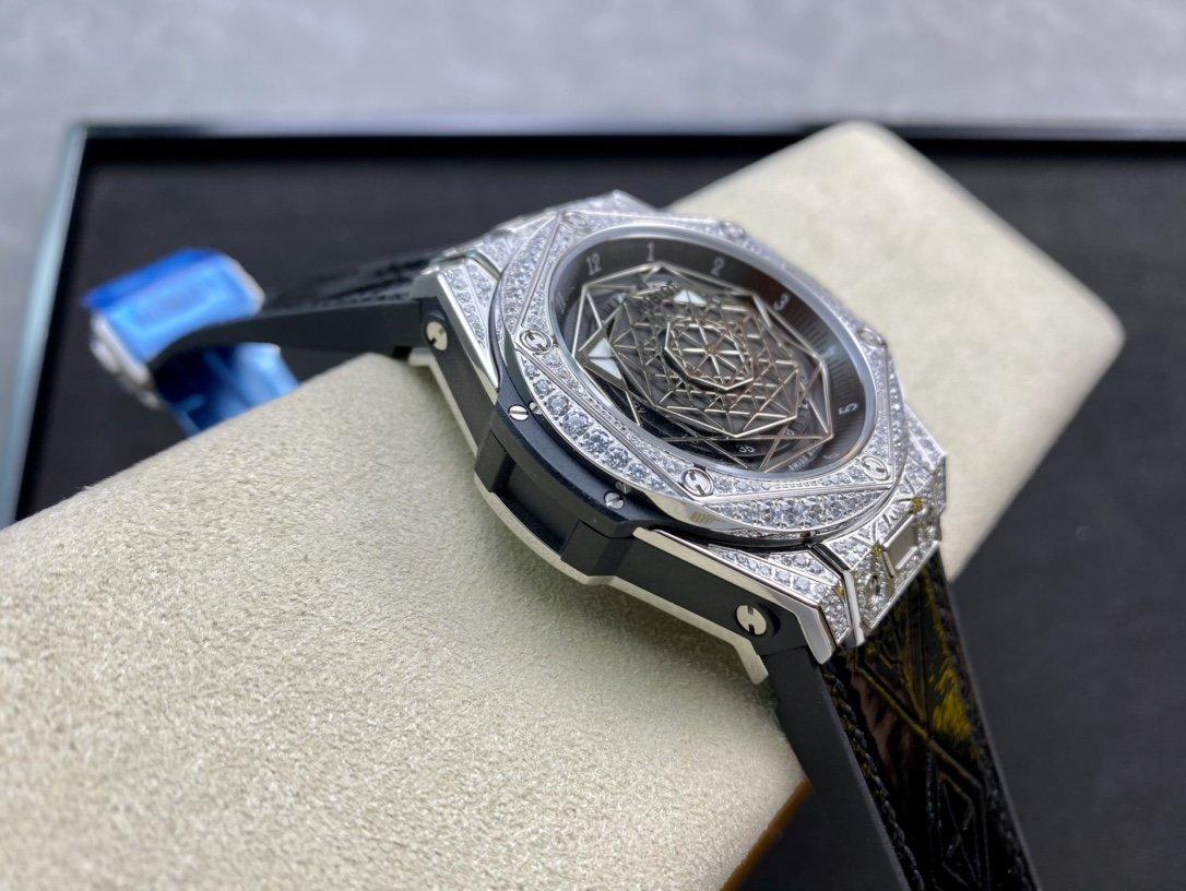 恒寶宇舶滿鑽刺青腕表Big Bang Sang Bleu 複刻手錶