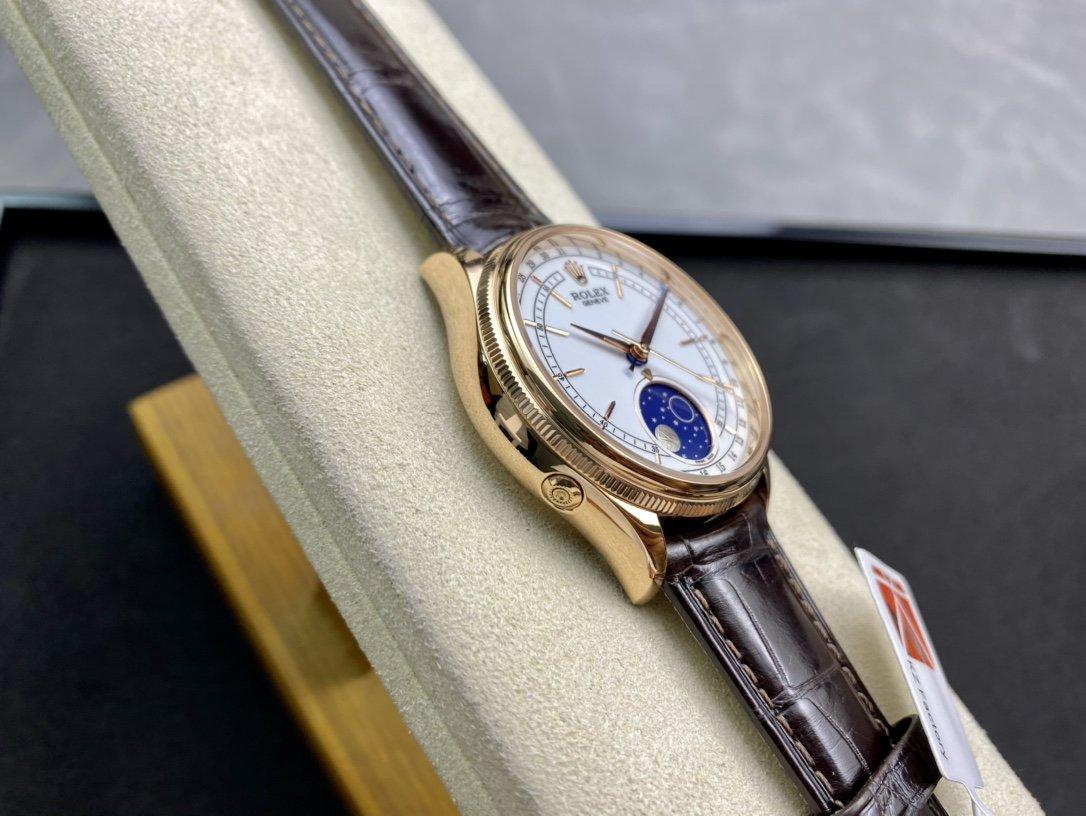 超級切利尼—來襲KZ Factory勞力士天然隕石月相切利尼Cal.3195機芯複刻手錶仿表