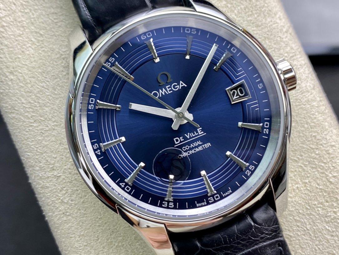 """VS廠手錶高仿歐米茄 蝶飛""""明亮之藍""""8500機芯複刻手錶"""