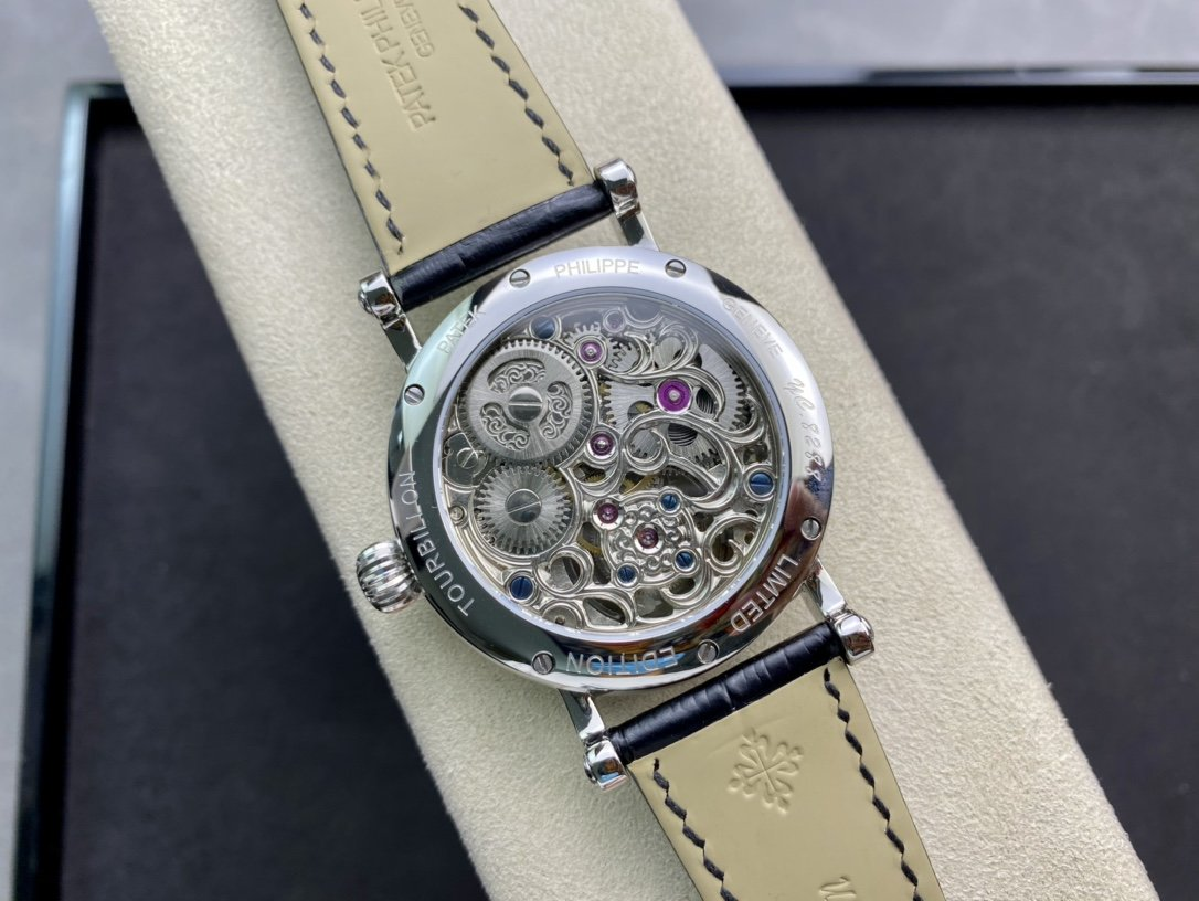 百達翡麗 (鏤空雙大儲存動能)手動陀飛輪機芯複刻手錶