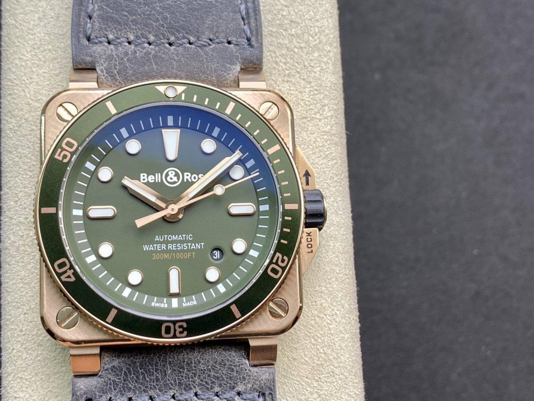 BR廠柏萊仕Bell&Roas首款方形潛水腕表DiverBR03-92 Diver潛水腕表複刻手錶