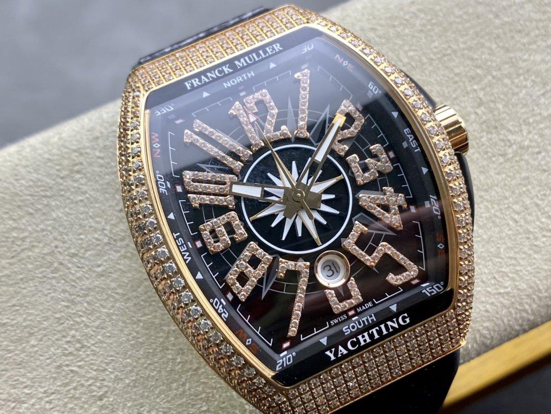 ABF Factory力作V2升級版市場最高品質Franck Muller法蘭克穆勒 FM Vanguard Yachting V45遊艇系列複刻手錶