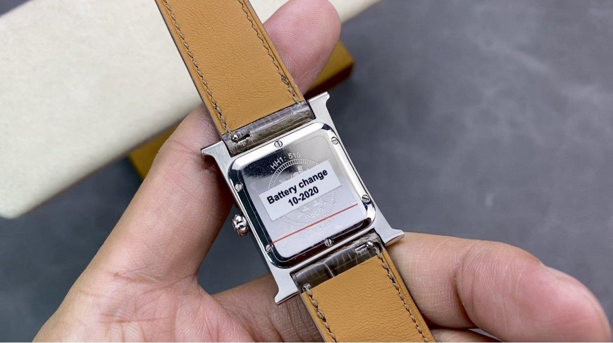 愛馬仕-Hermes錶盤直徑26mm搭配純手工鑲方鑽複刻手錶