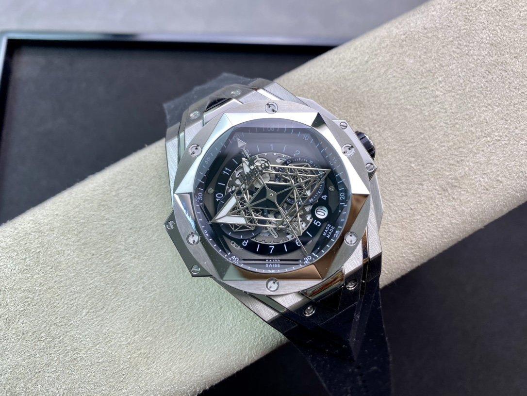 升級V2版恒寶刺青大師設計Hublot劍鋒石英計時款複刻手錶