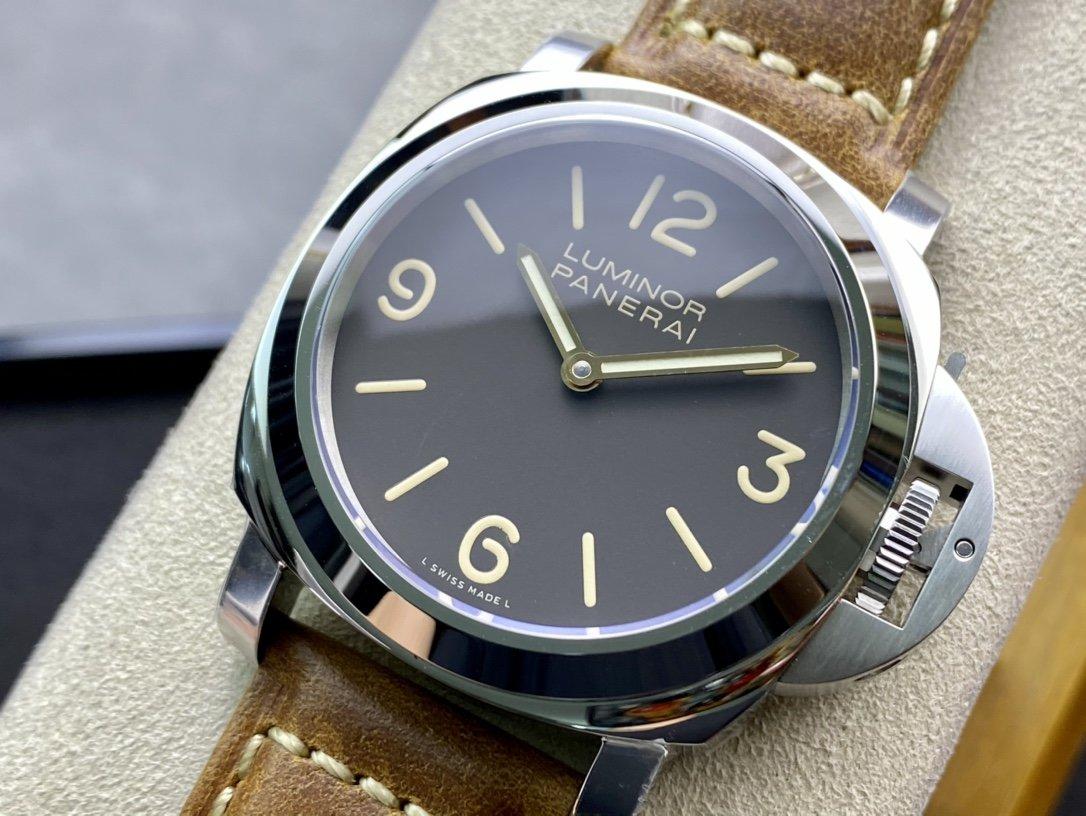 NOOB Factory沛納海PAM390配6497-2豁口型手動機芯複刻手錶