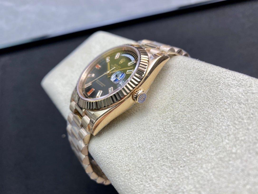 EW Factory力作V2升級版高仿勞力士Rolex星期日志型40mm複刻手錶