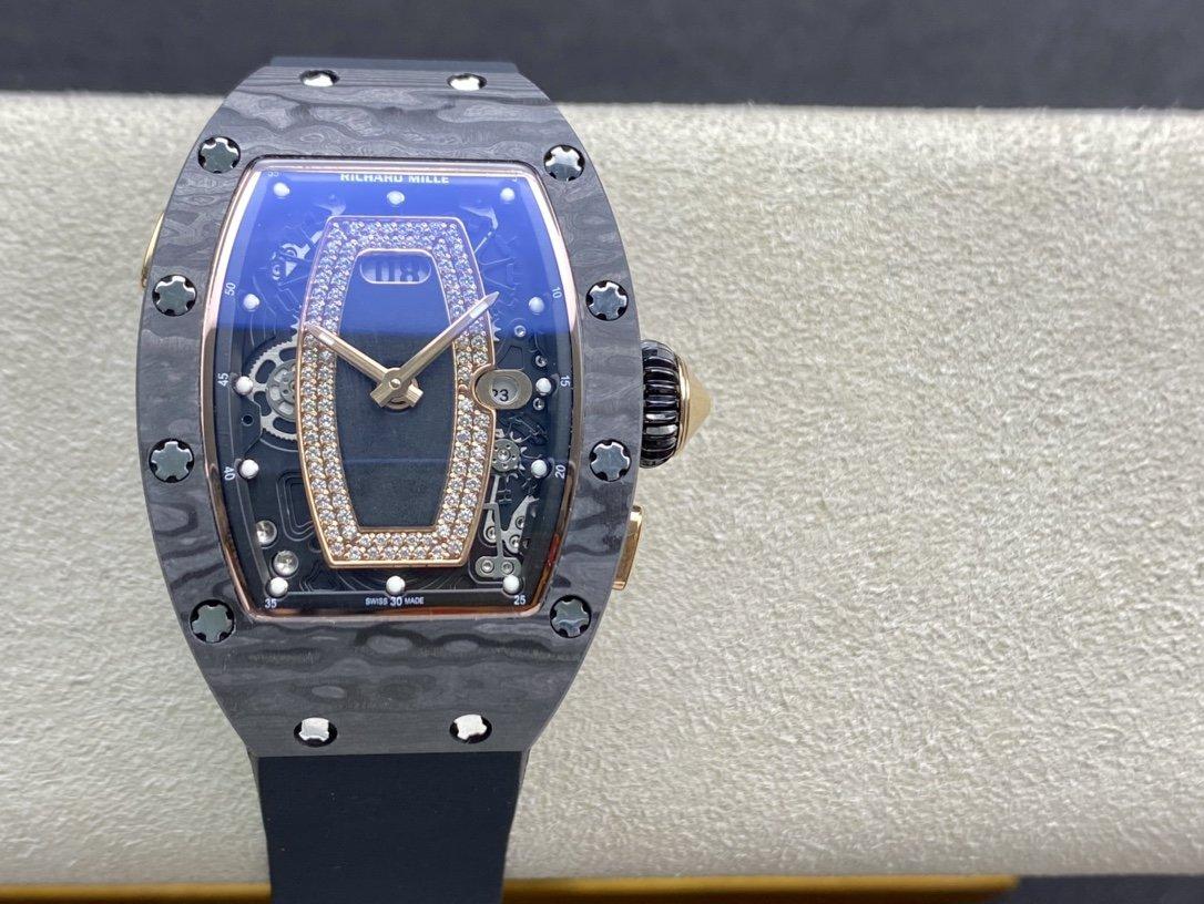高仿理查德米勒 Richard Mille RM037碳纖維紅唇系列女士複刻手錶