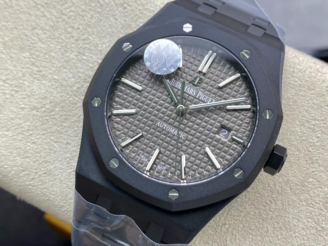 "ZF廠手錶愛彼15400系列""DLC版本""高亮黑的金鋼碳鍍層15400複刻手錶"