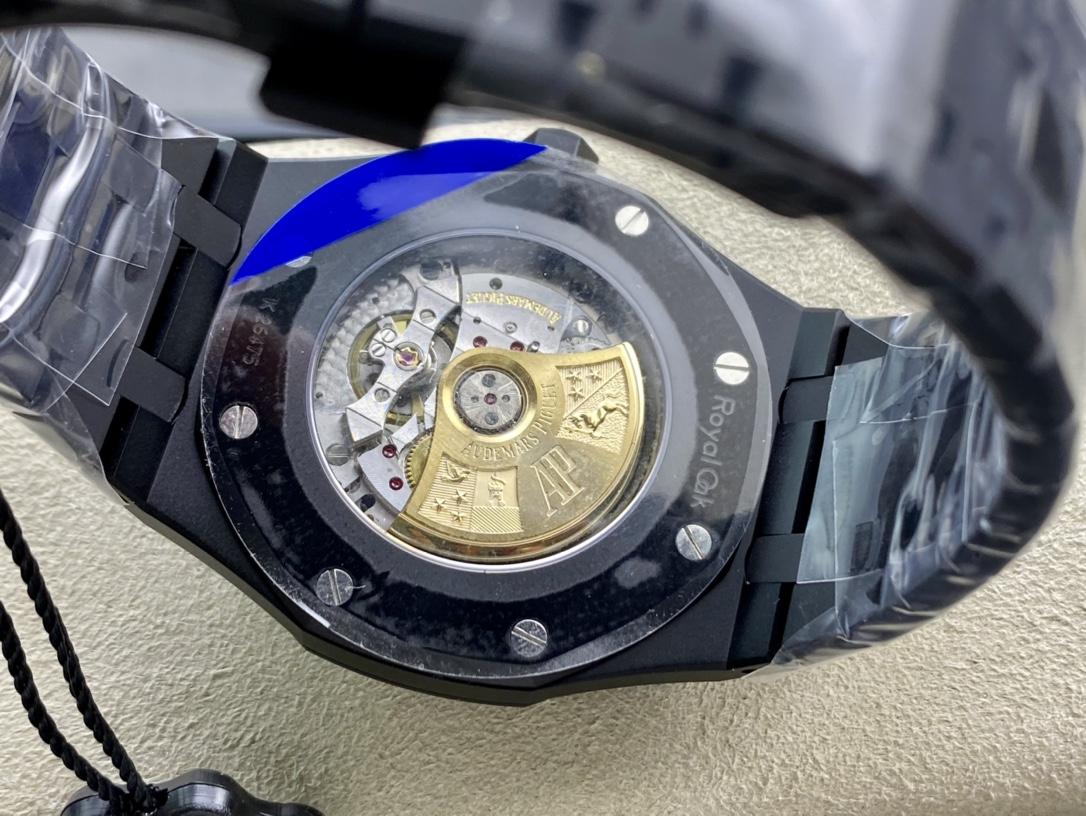 """ZF廠手錶愛彼15400系列""""DLC版本""""高亮黑的金鋼碳鍍層複刻手錶"""