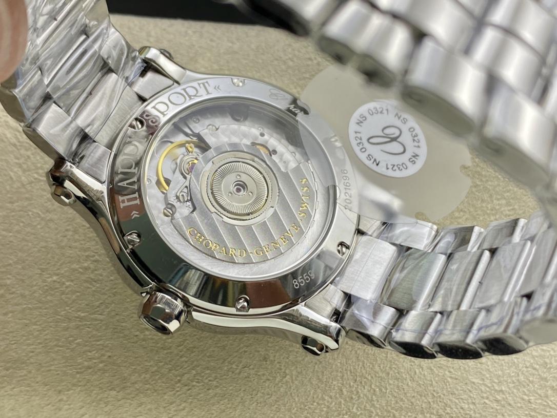 YF廠高仿蕭邦HAPPY DIAMONDS快樂36MM鑽鋼帶款複刻手錶