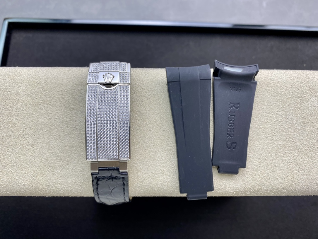 V3版升級(鱷魚皮,扣子全滿鑽)勞力士滿鑽水鬼複刻手錶