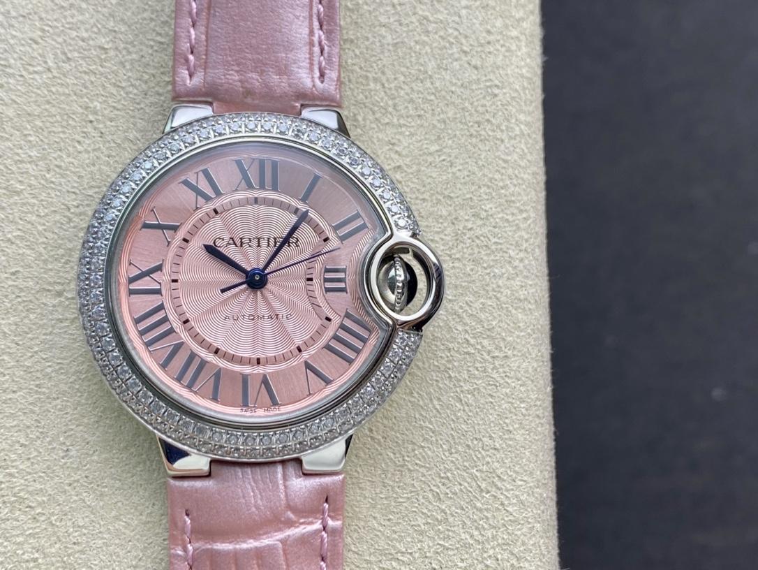 V6 -Factory一表一碼一卡完美複刻卡地亞藍氣球33MM高仿手錶
