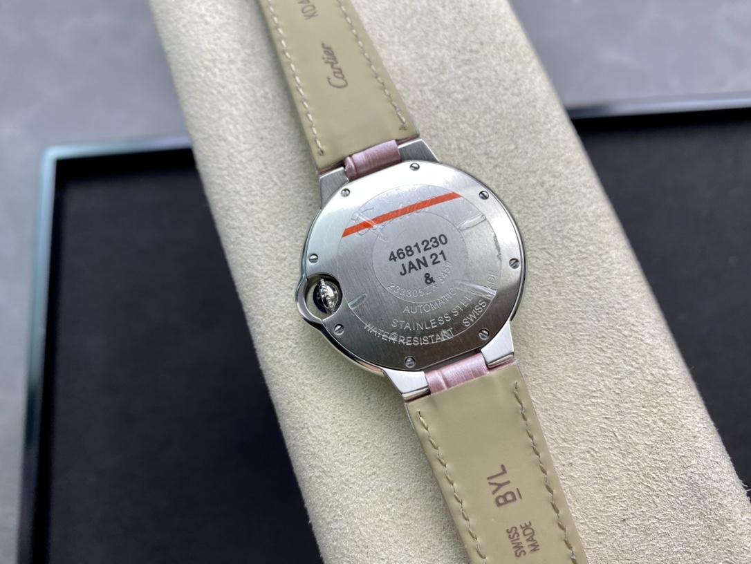 V6 -Factory一表一码一卡完美复刻卡地亚蓝气球33MM高仿手表