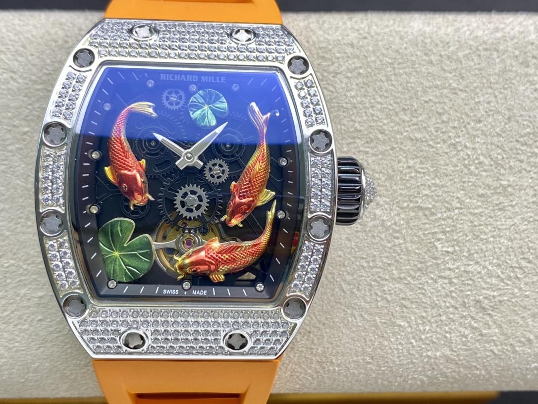 高仿理查德米勒Richard Mille型號RM57-01年年有魚滿鑽複刻手錶