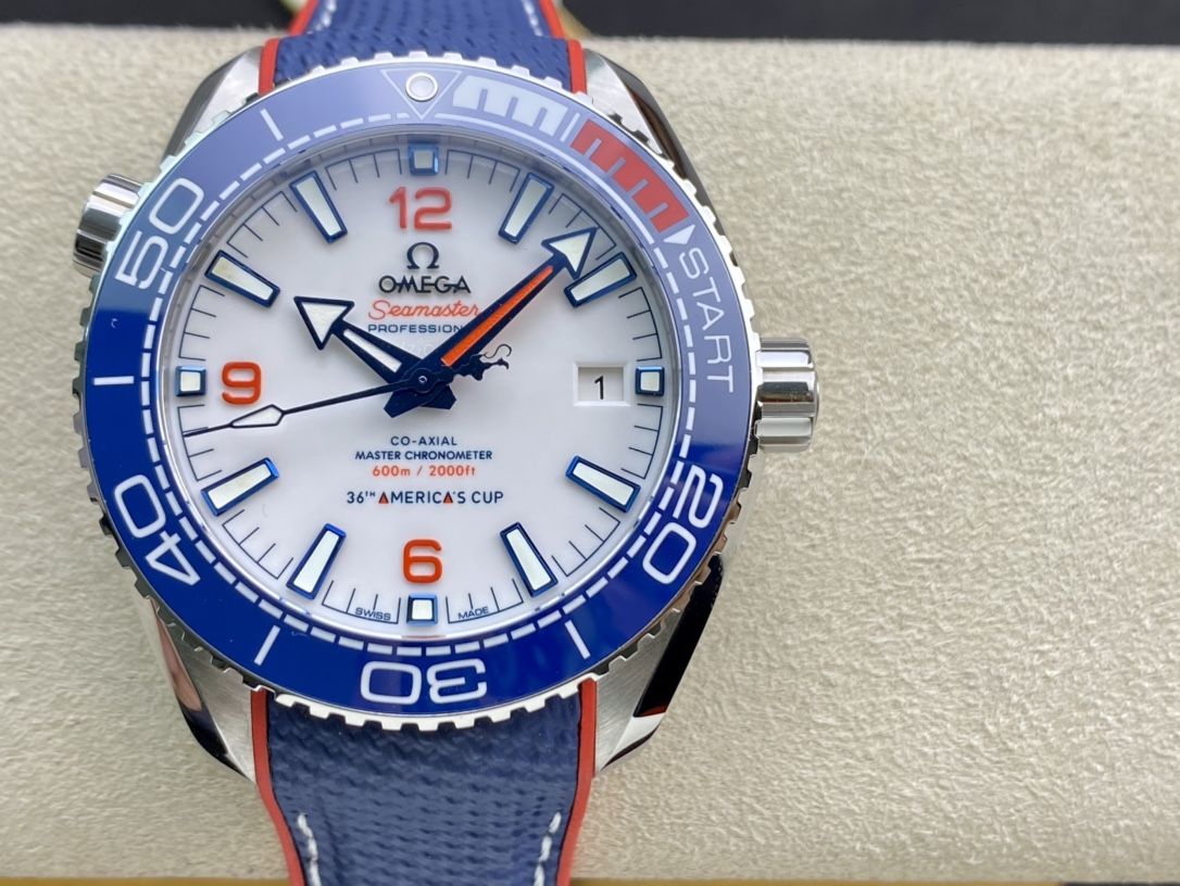 VS廠手錶高仿歐米匣43.5MM全新海馬美洲杯海馬系列複刻仿表
