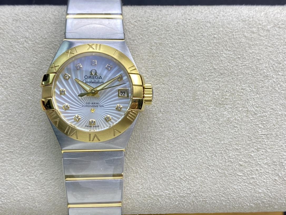 SSS廠手錶3S出品OMEGA高仿歐米茄女表星座系列8520機芯複刻手錶