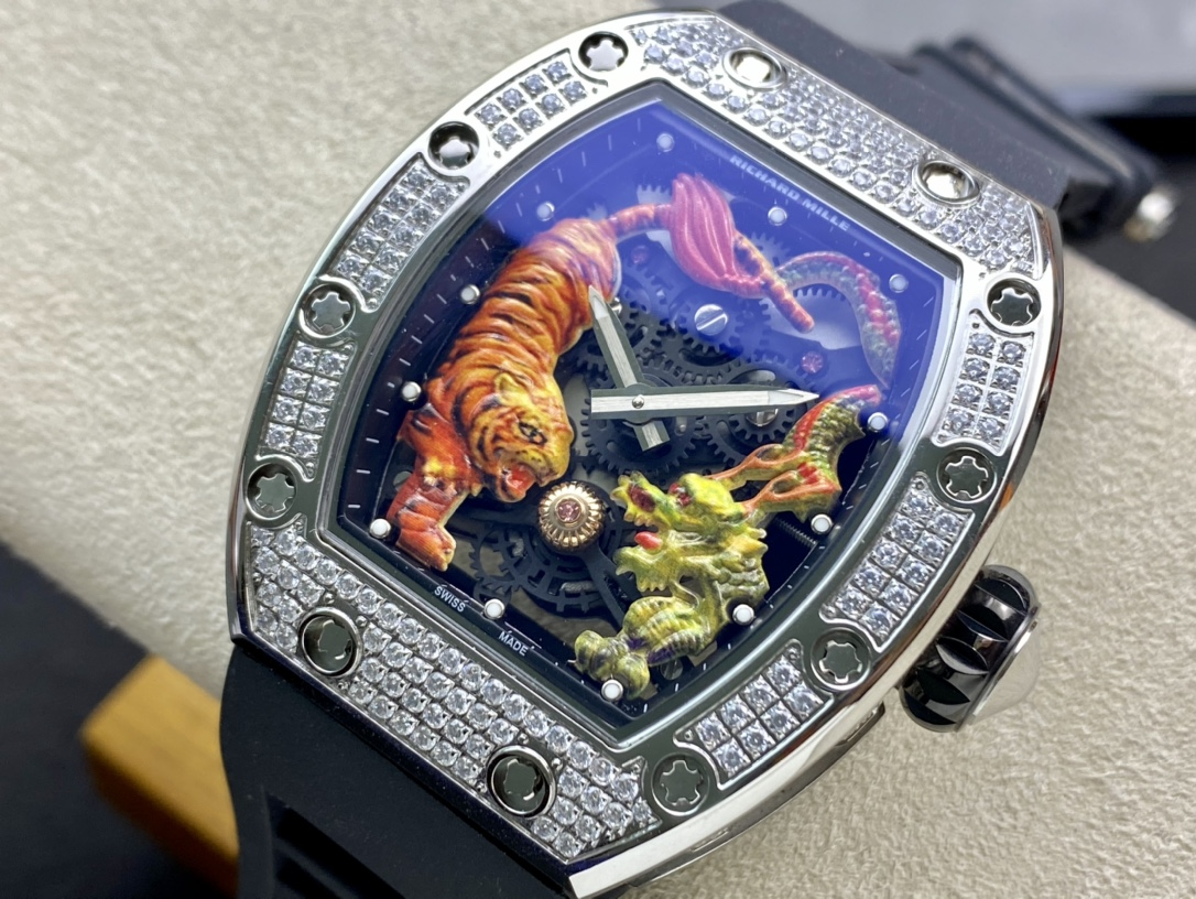 RICHARD MILLE仿表理查德米勒RM51-01 龍虎爭霸滿鑽腕表一比一複刻手錶