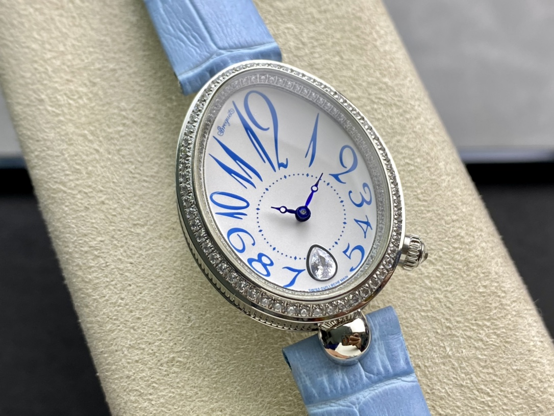 AW新品高仿寶璣那不勒斯皇后機械版本Breguet新作複刻手錶