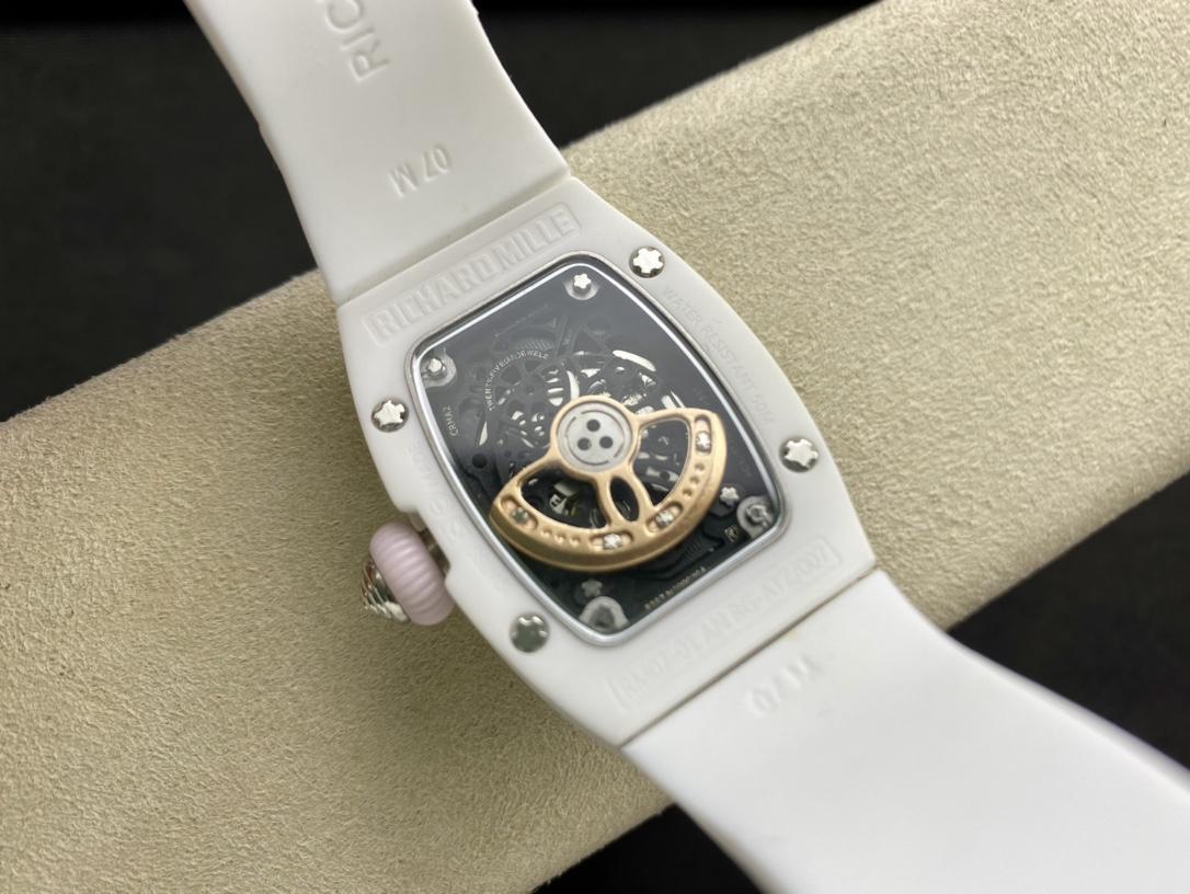高仿理查德RM07紅唇陶瓷女表表徑31mm日本進口機械機芯複刻手錶
