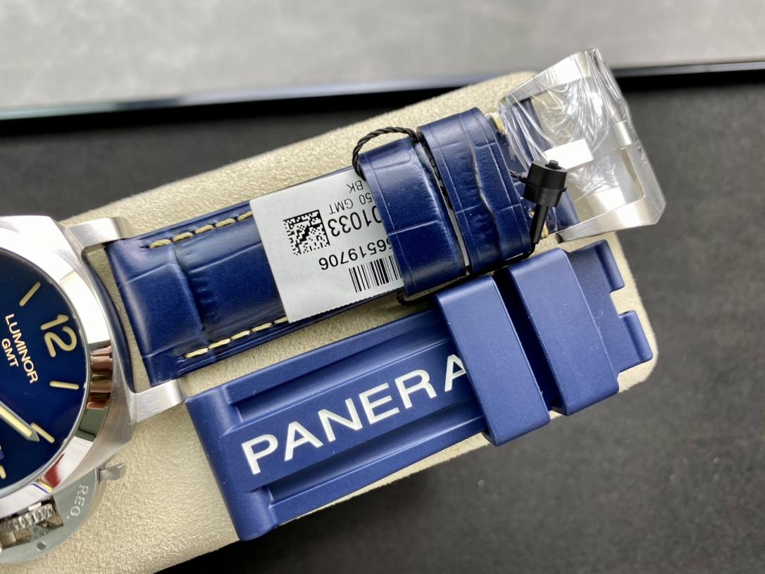 VS廠手錶高仿沛納海OFFICINE PANERAI LUMINOR 兩地GMT 44毫米 PAM1033 騷藍複刻手錶