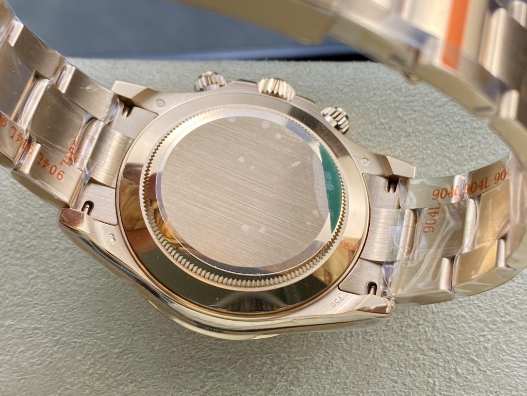 N廠手錶高仿勞力士全玫瑰金迪通拿系列專屬Cal.4130自動上鏈機芯複刻手錶