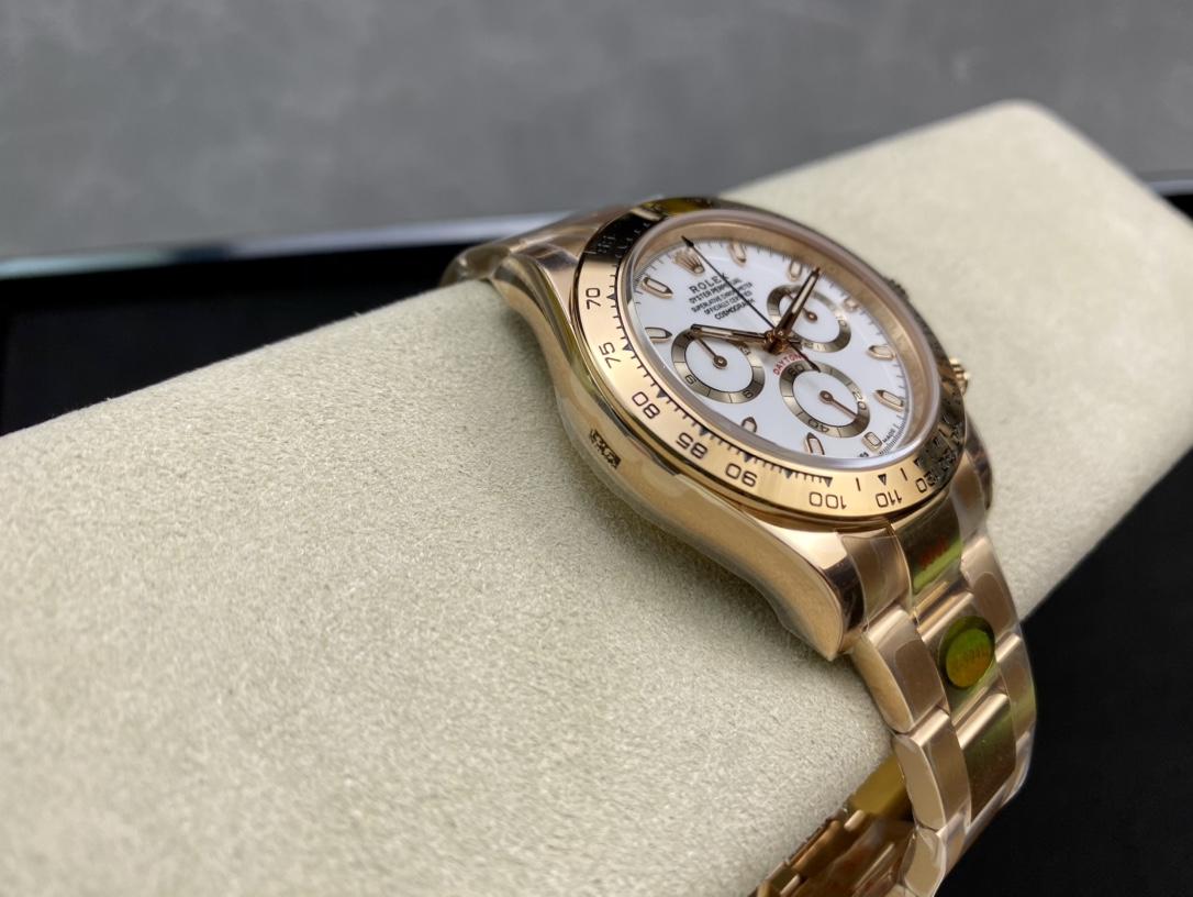 N廠手錶高仿勞力士全玫瑰金迪通拿系列Cal.4130機芯複刻手錶