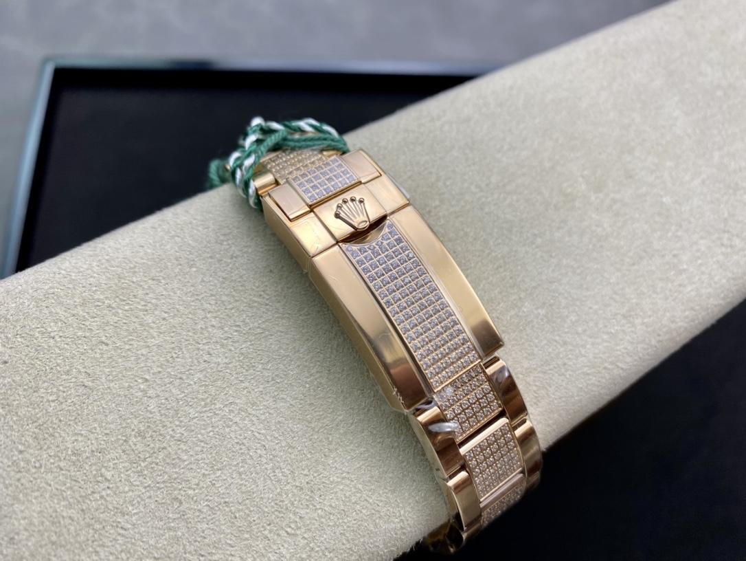 JH Factory高仿勞力士蠔式恒動宇宙計型迪通拿滿鑽彩虹迪仿表 腕表
