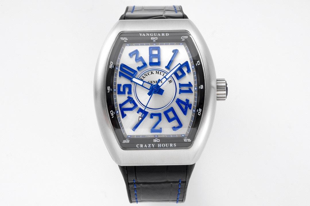 ABF Factory高仿法蘭克穆勒獨家定制版Vanguard腕表V45 CRAZY HOUR瘋狂時間系列複刻手
