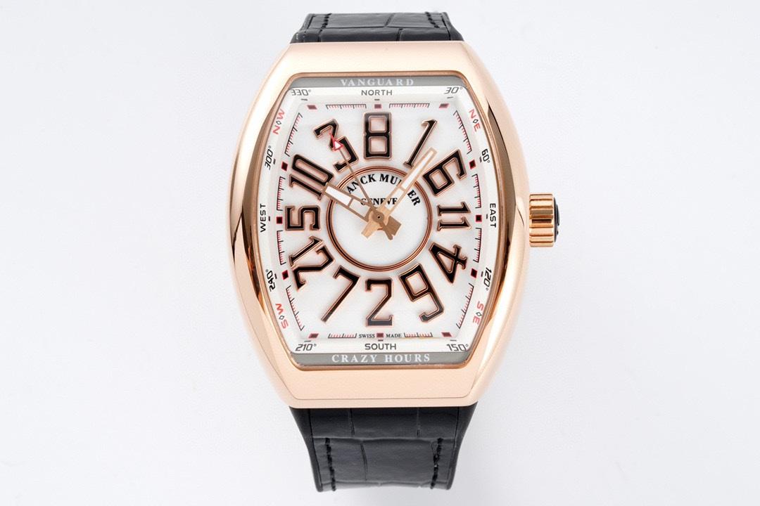 ABF Factory高仿法蘭克穆勒獨家定制版Vanguard腕表V45 CRAZY HOUR瘋狂時間系列ABF廠手錶
