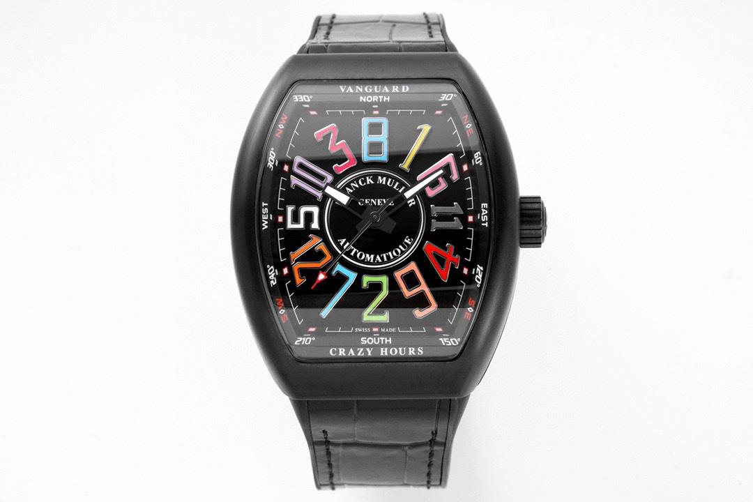 ABF Factory高仿法兰克穆勒独家定制版Vanguard腕表V45 CRAZY HOUR疯狂时间系列ABF厂手表
