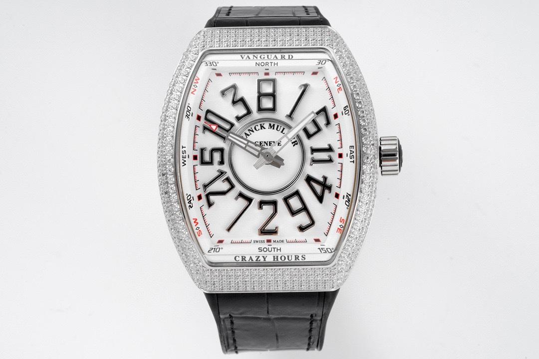 ABF Factory高仿法蘭克穆勒Vanguard腕表V45 CRAZY HOUR瘋狂時間系列複刻手錶