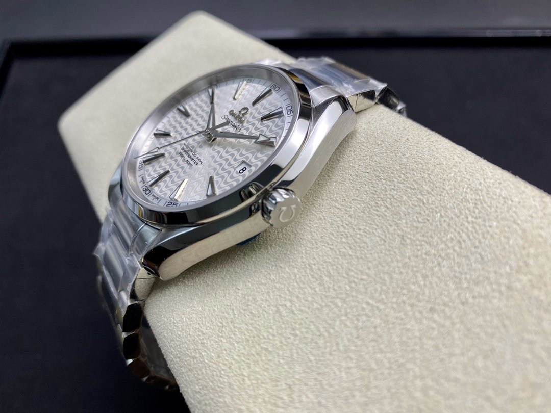 VS廠手錶仿表歐米茄OMEGAVS 海馬150米裏約波浪白盤複刻表,N廠手錶